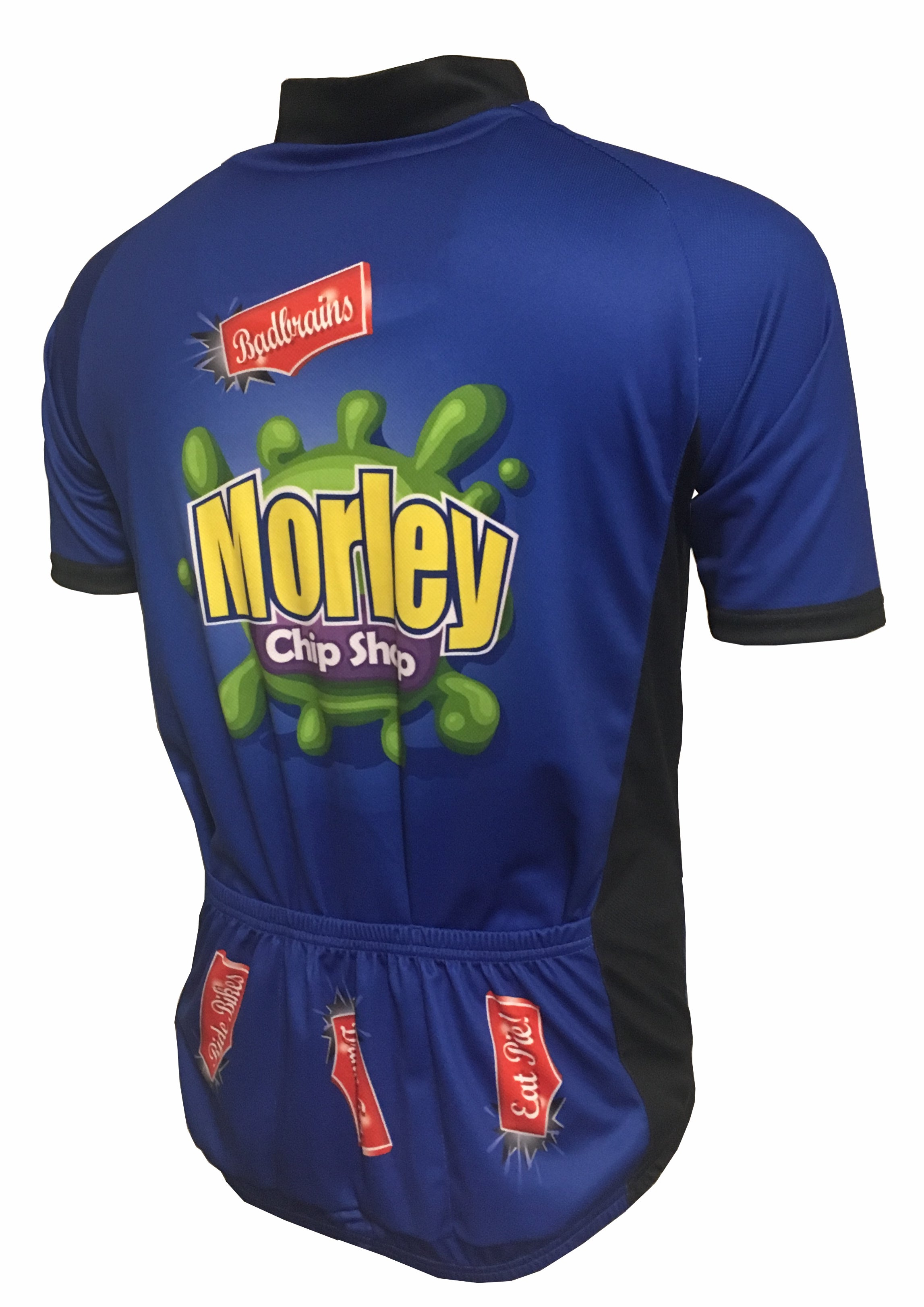 Morley Chip Shop Kids Road Cycle Jersey Back