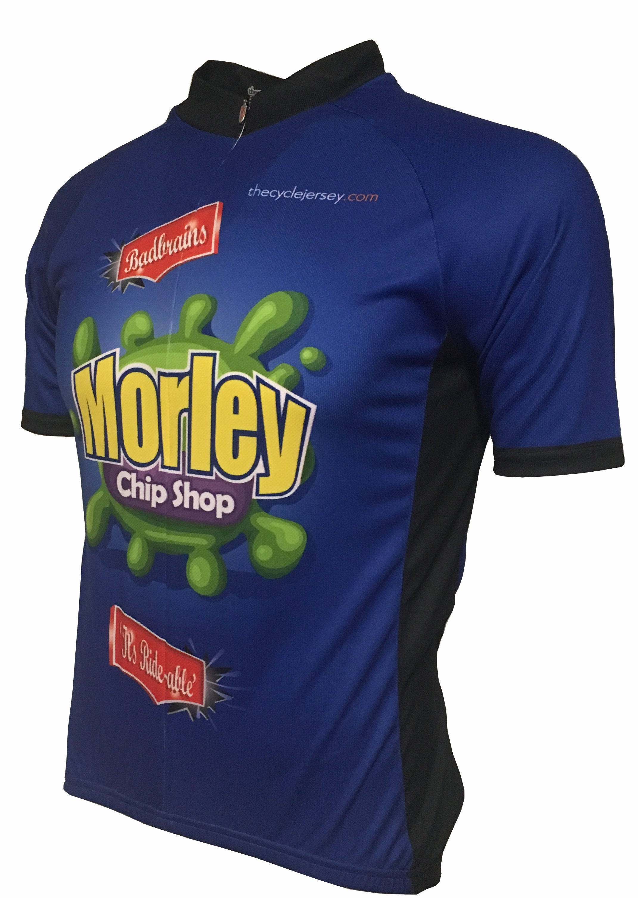 Morley Chip Shop Kids Road Cycle Jersey Front