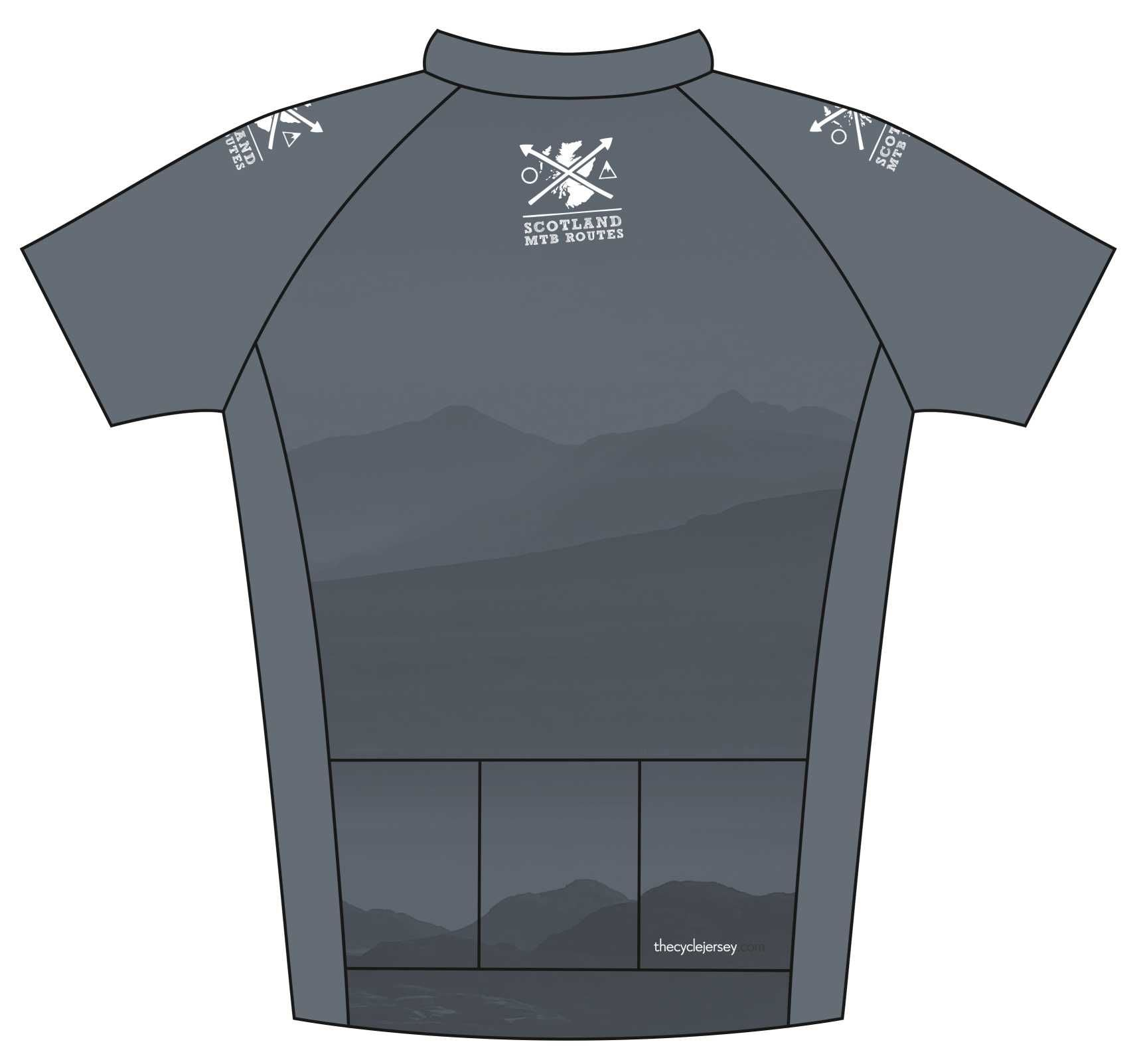 MTB Routes Road Jersey Back
