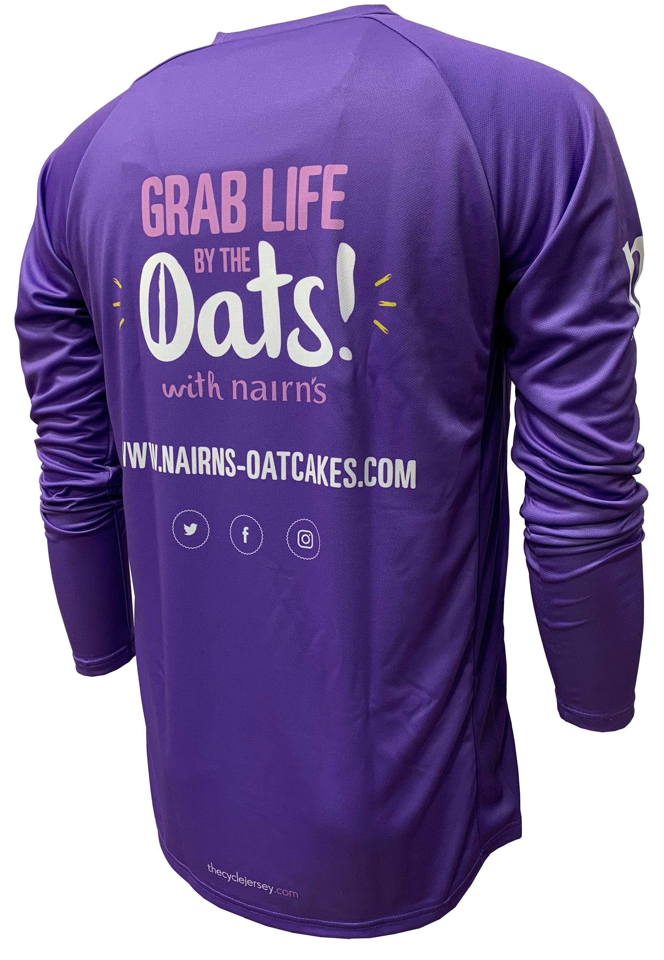 Nairn's Oatcakes Enduro Cycling Jersey Back