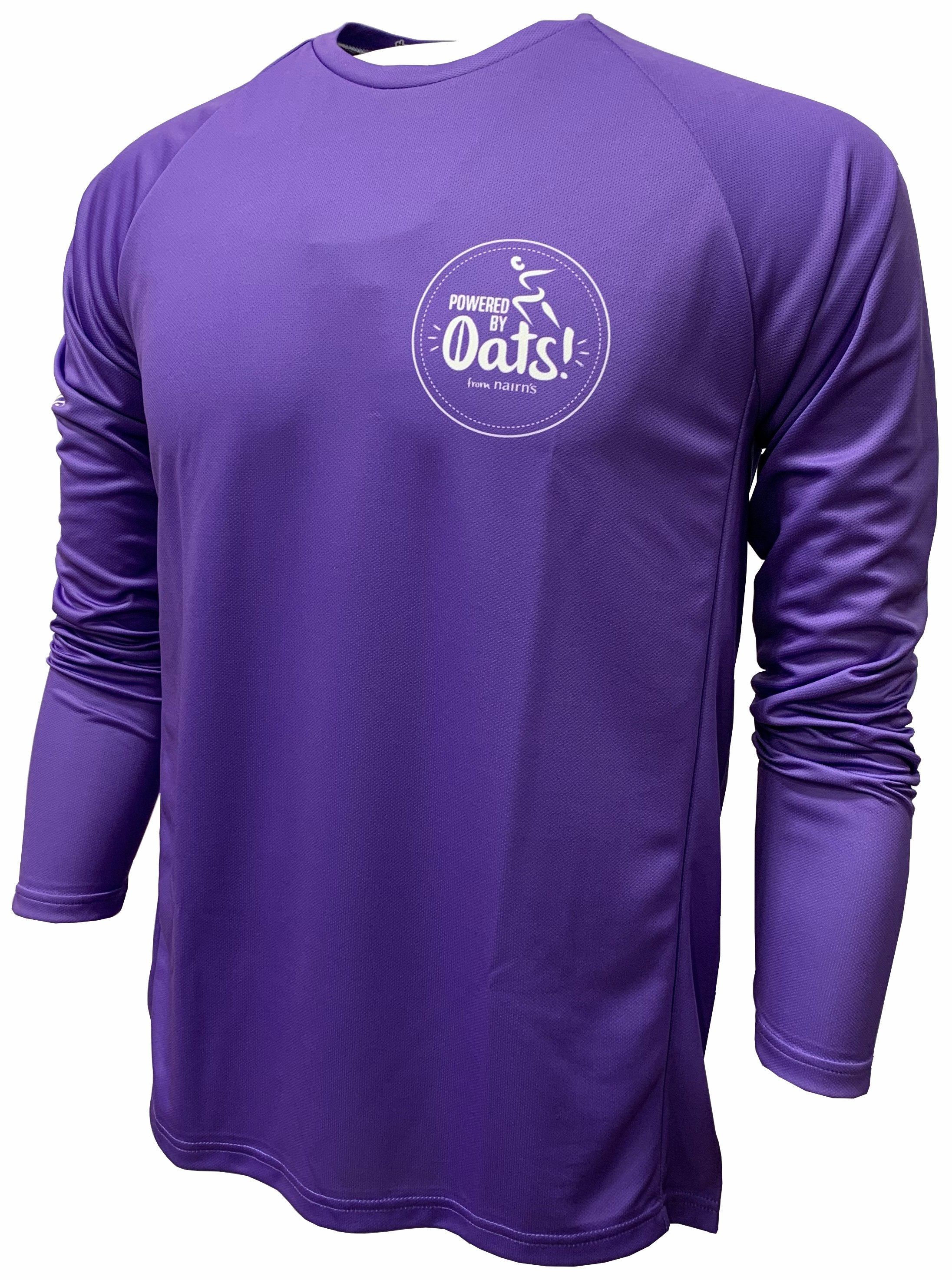 Nairn's Oatcakes Purple Enduro Cycling Jersey Front