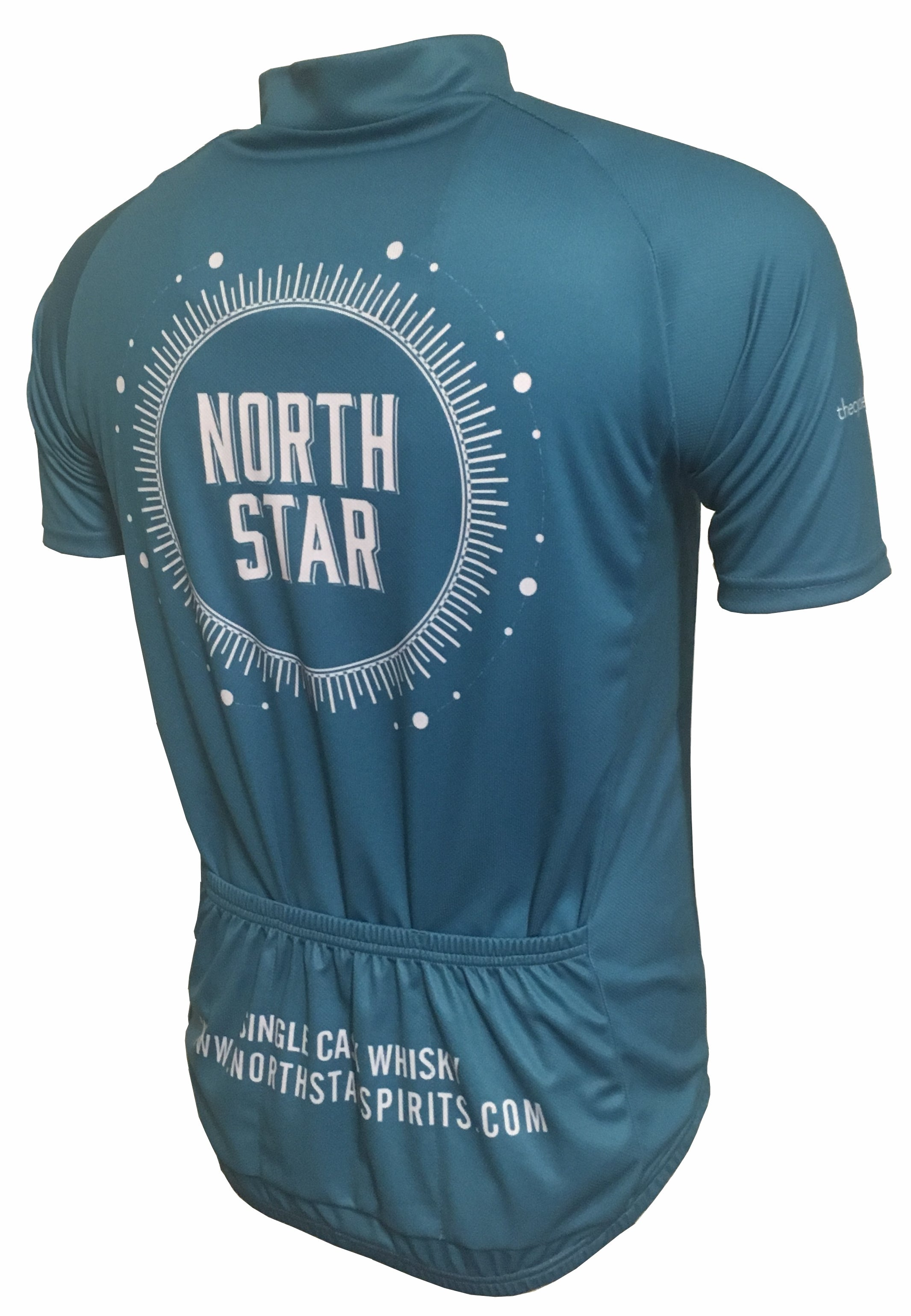 North Star Spirits Blue Road Cycling Jersey Back