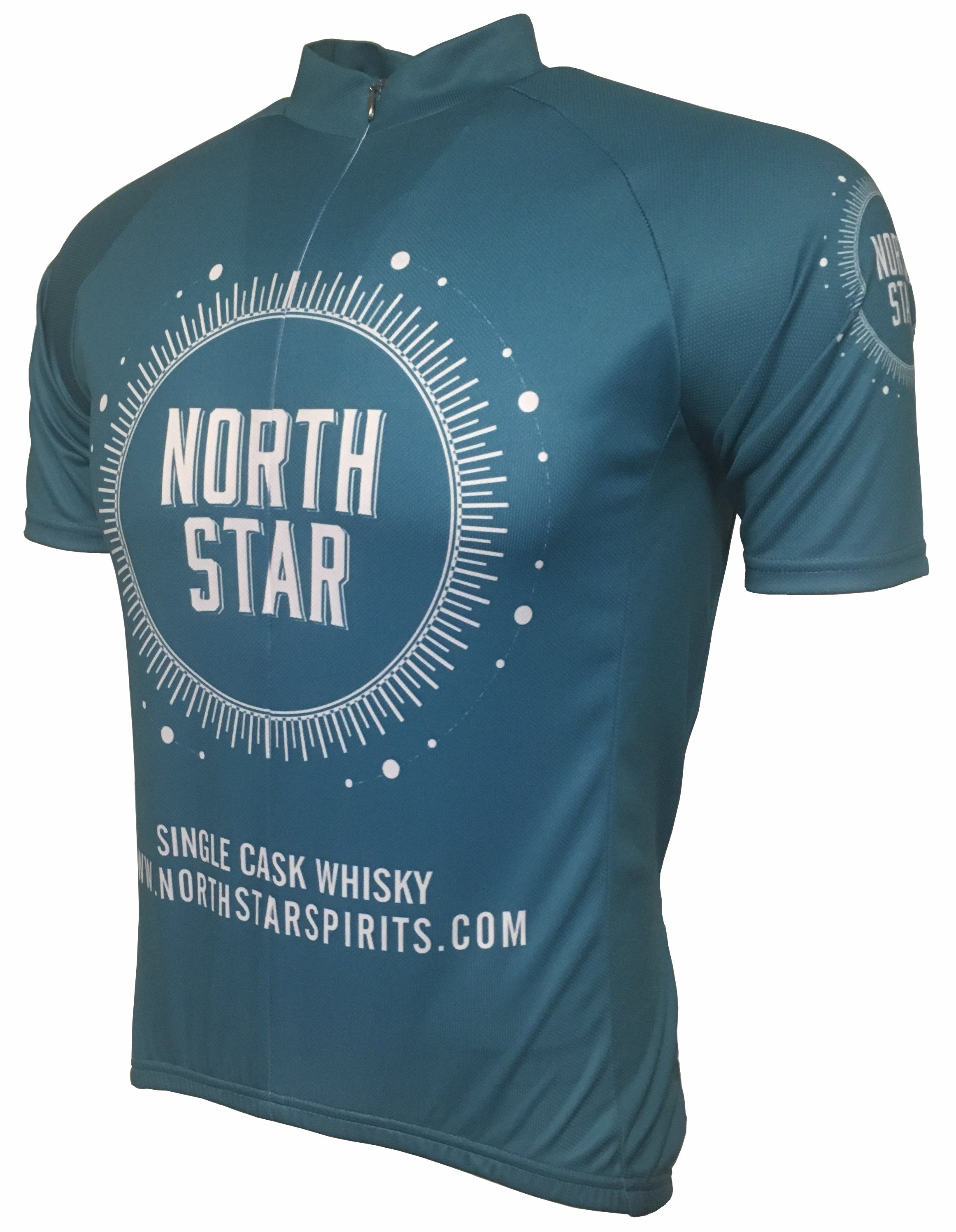 North Star Spirits Blue Road Cycling Jersey Front