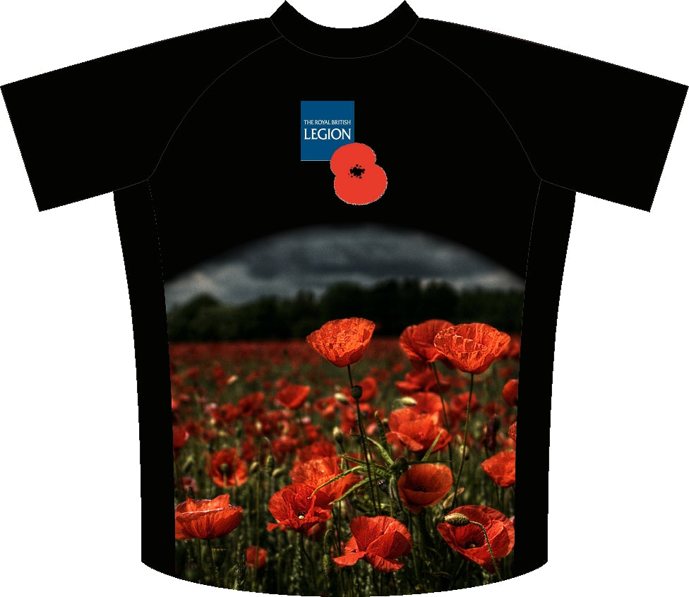 Poppy Fields Remembrance Enduro Jersey Back