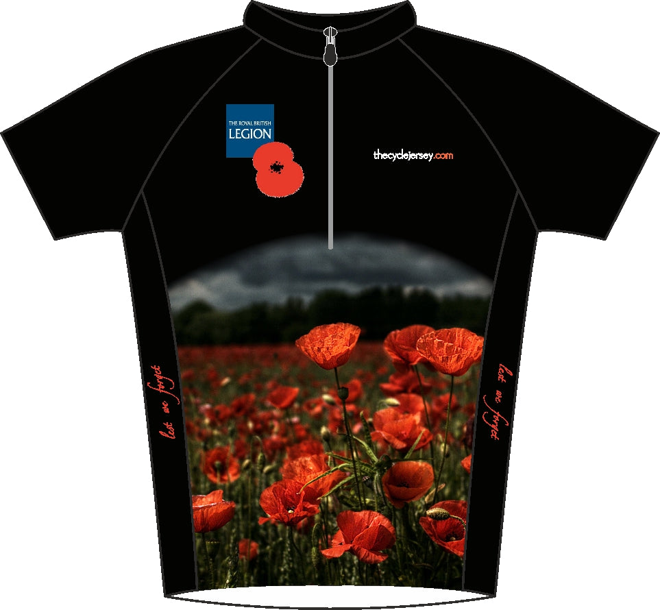 Poppy Fields Remembrance Road Jersey Front
