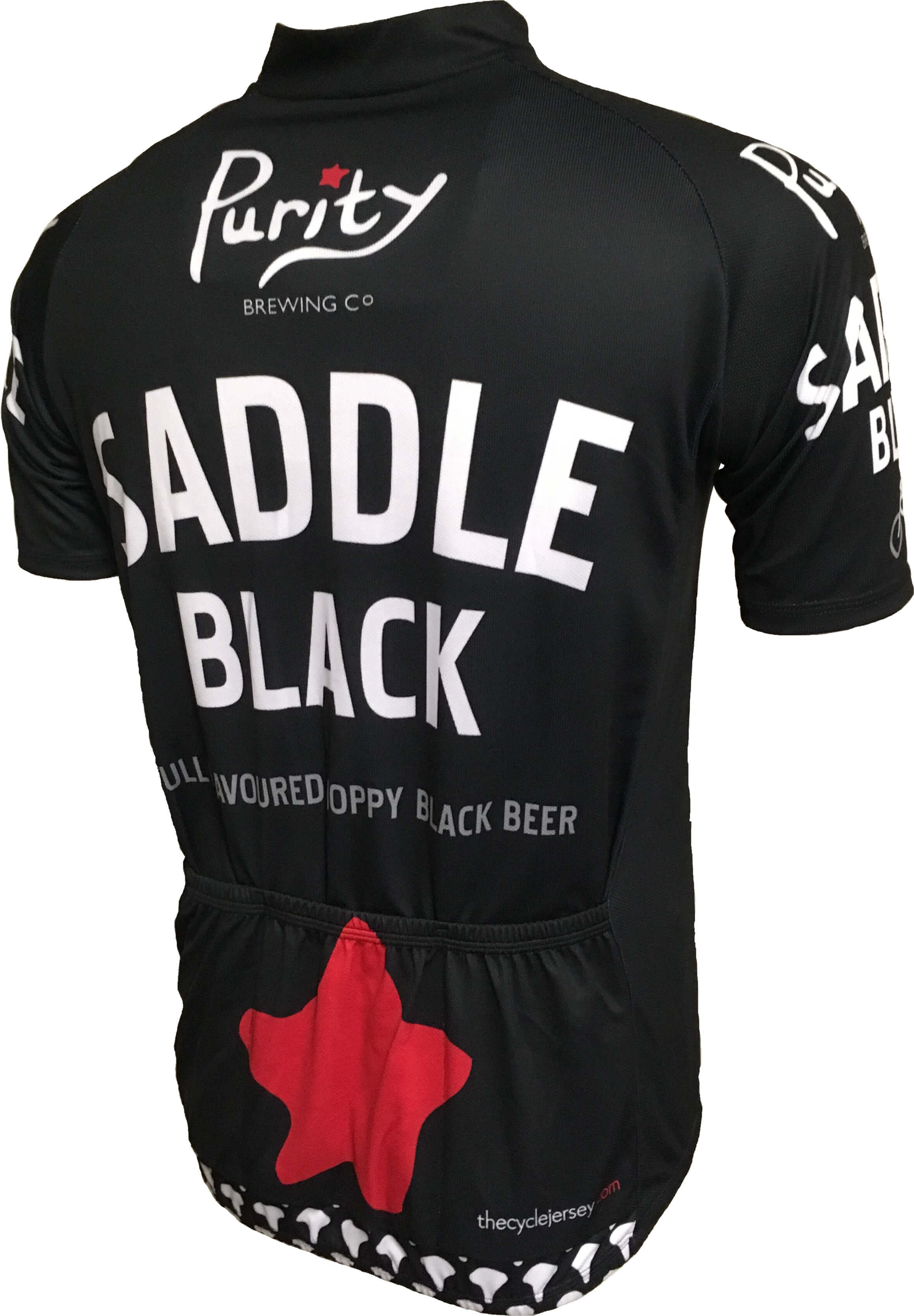 Purity Saddle Black Road Jersey Back