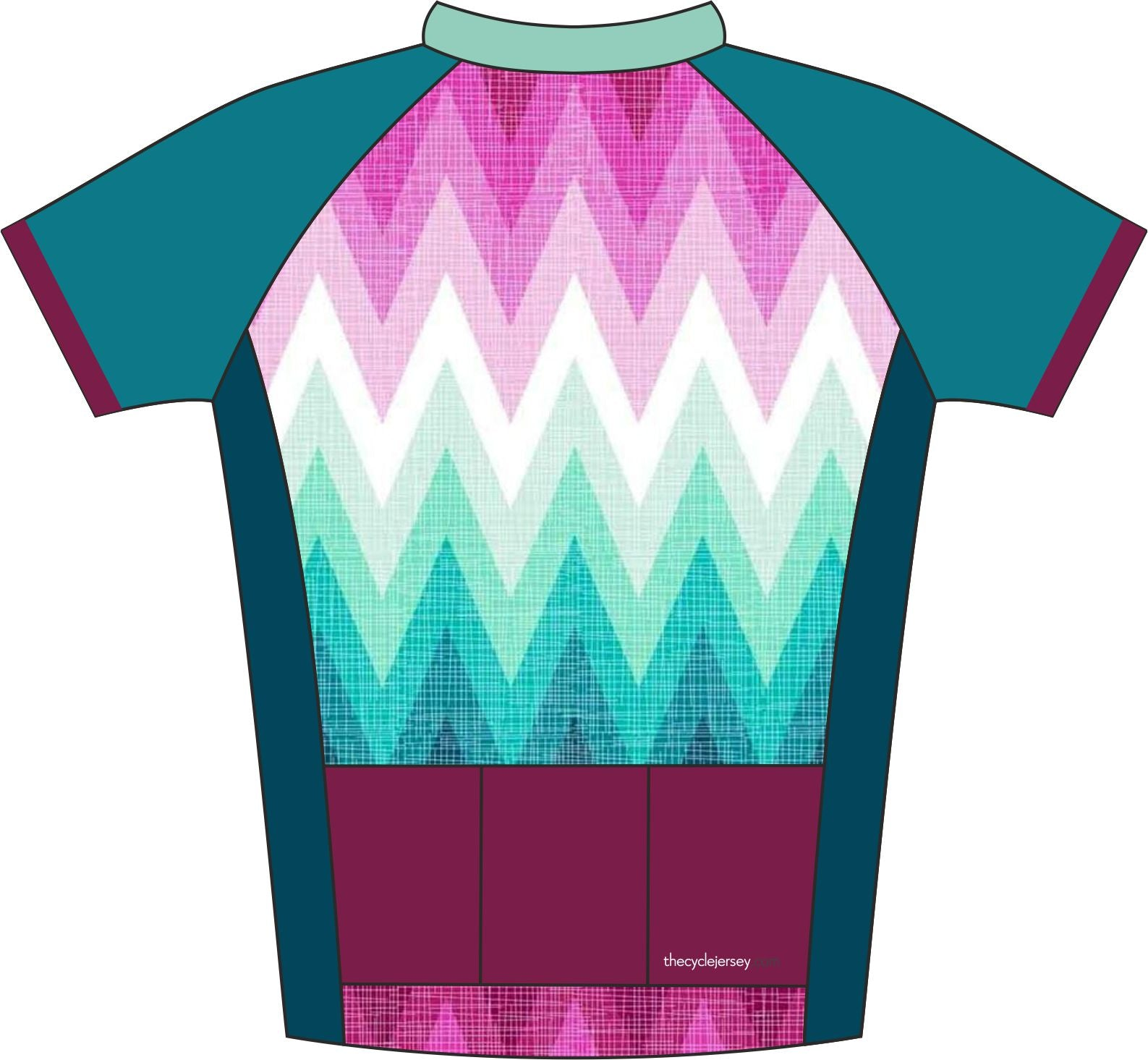 Fade Design Cycle Jersey Back