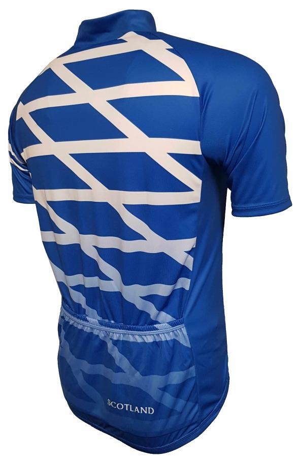 Scotland Flag Cycling Jersey Back