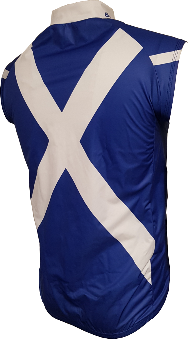 Scotland Saltire Gilet Back