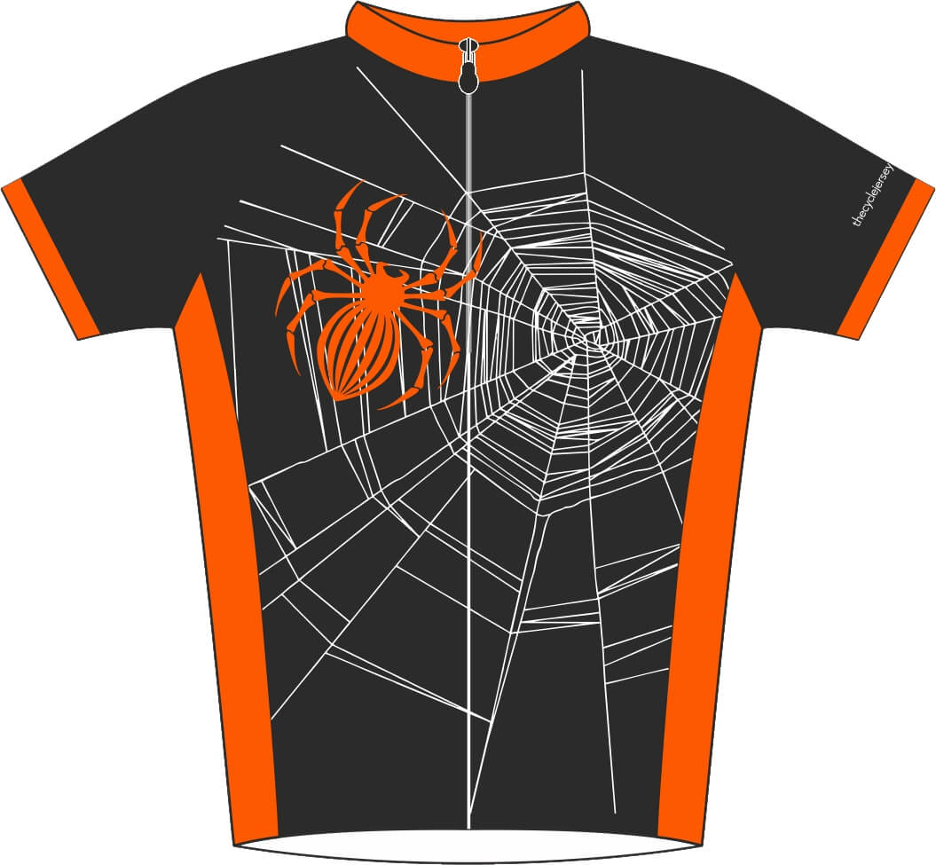 Halloween Spider Design Road Cycle Jersey Front