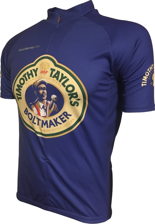 Timothy Taylor Blue Cycle Jersey Front