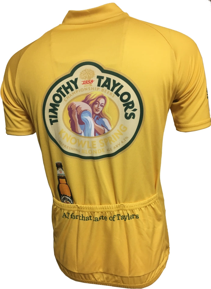 Timothy Taylor Yellow Cycle Jersey Back