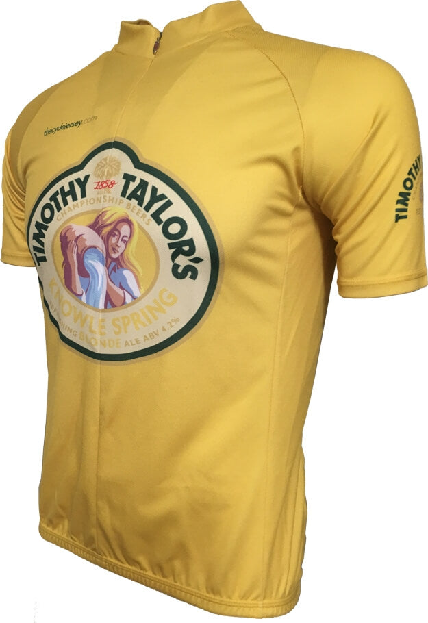 Timothy Taylor Beer Championship Yellow Road Jersey front