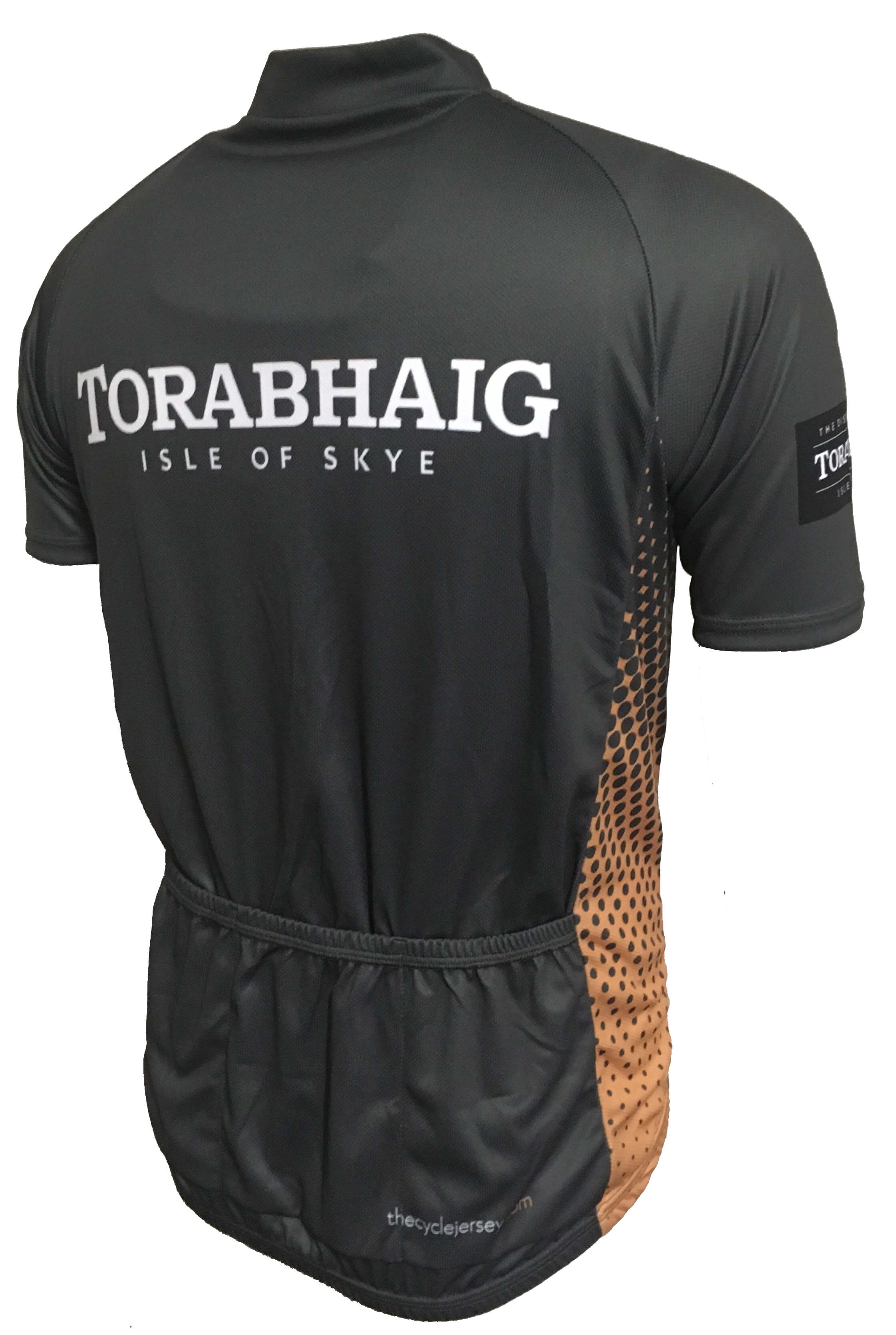 Torabhaig Whisky Gold Road Cycling Jersey Back