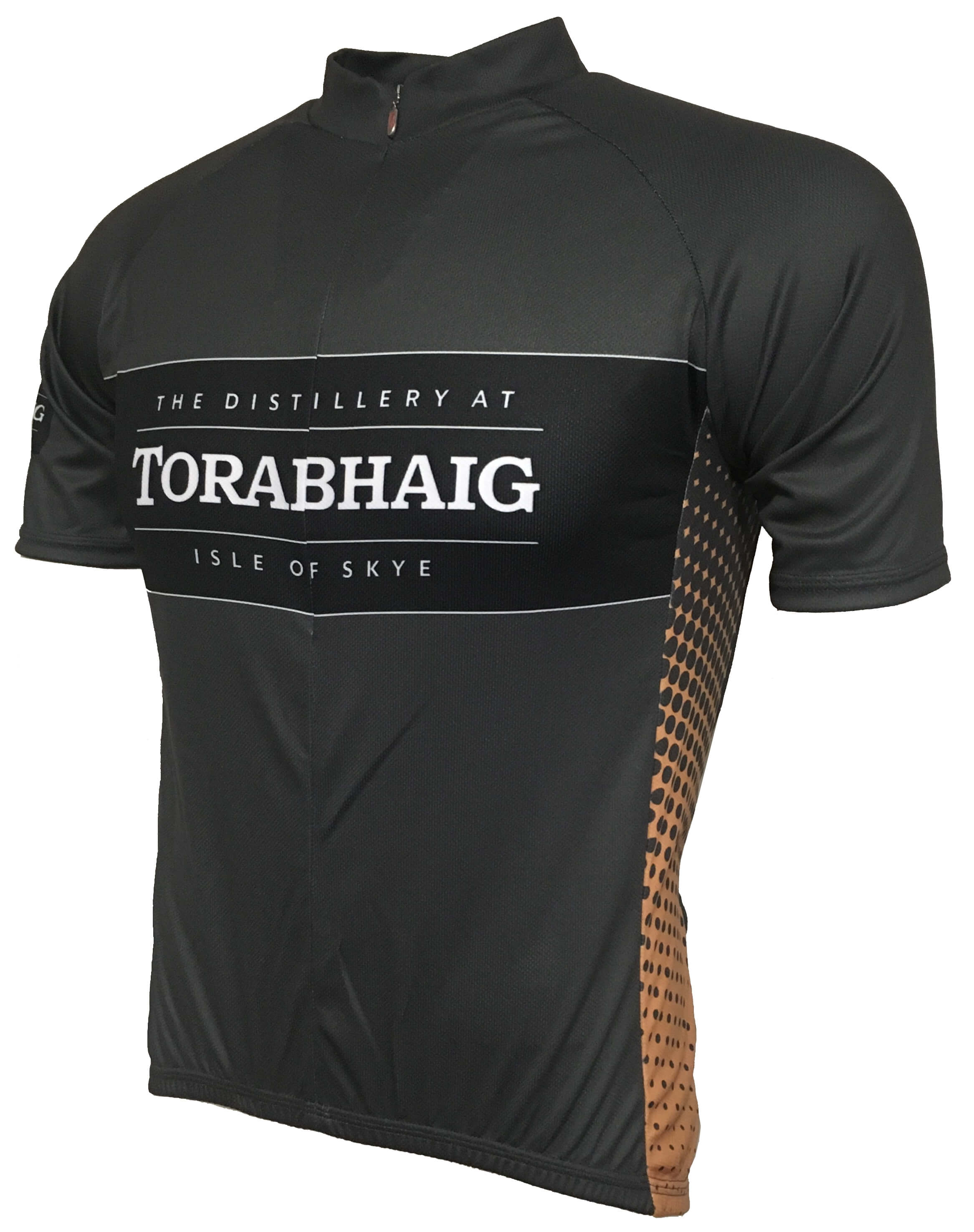 Torabhaig Whisky Gold Road Cycling Jersey Front