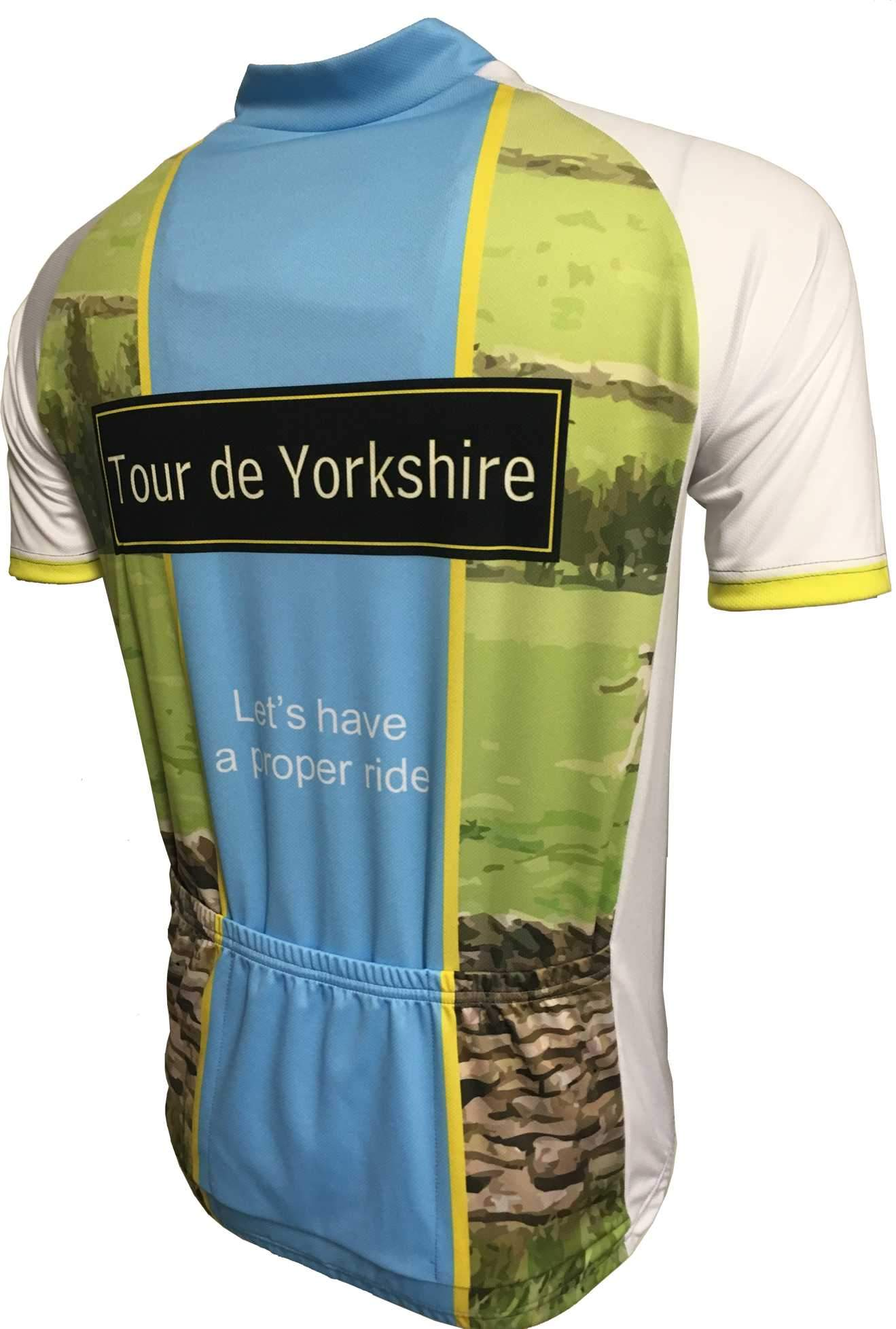Tour De Yorkshire Cycling Jersey Back