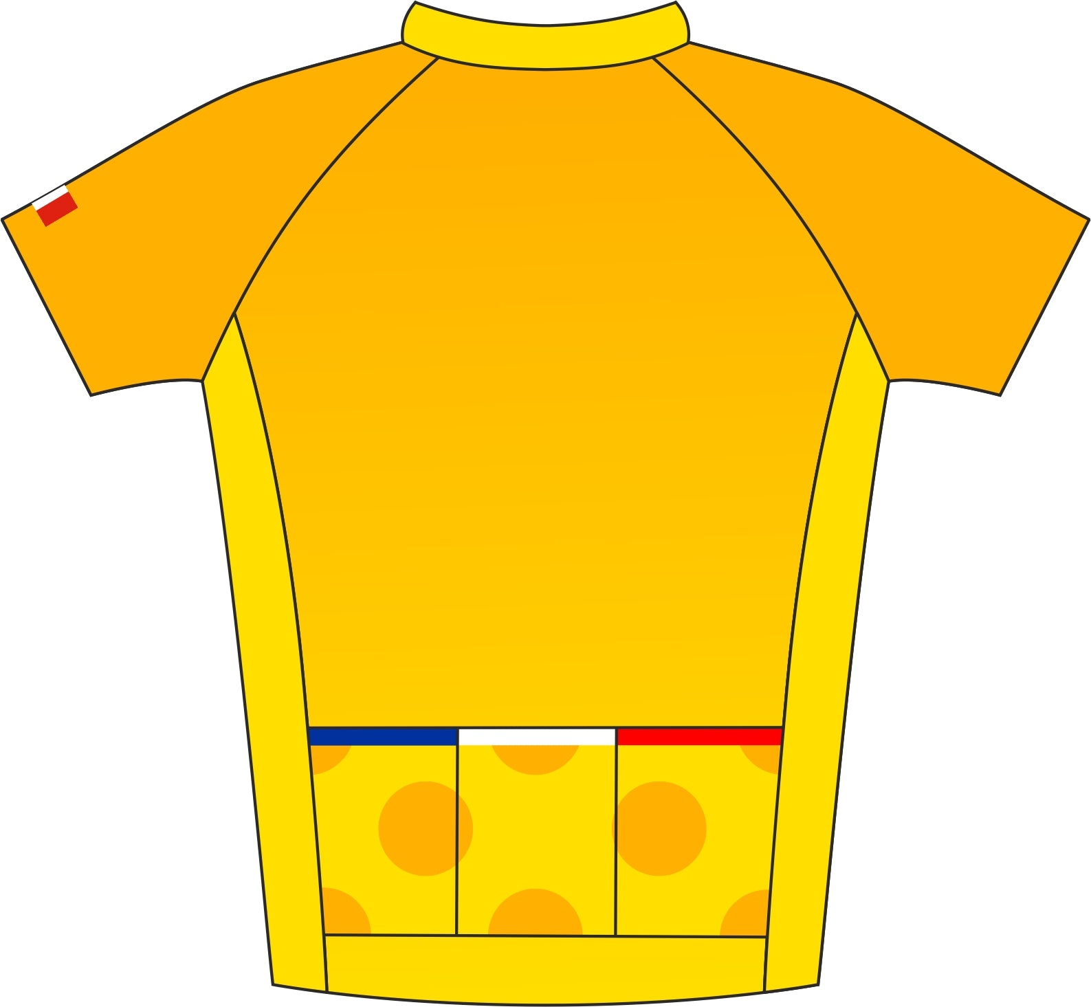 Le Tour De France Road Cycle Jersey Back