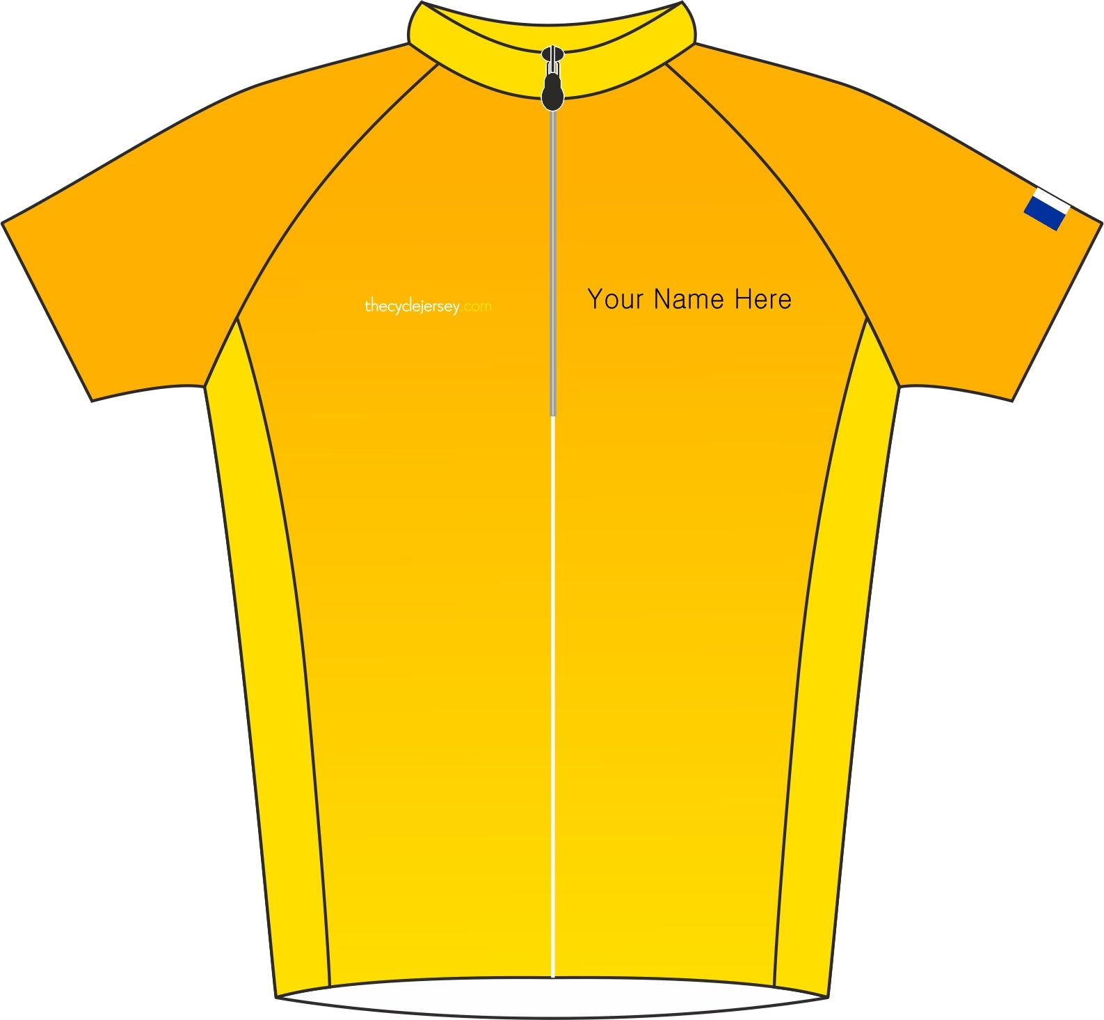 Le Tour De France Kids Road Cycle Jersey Front