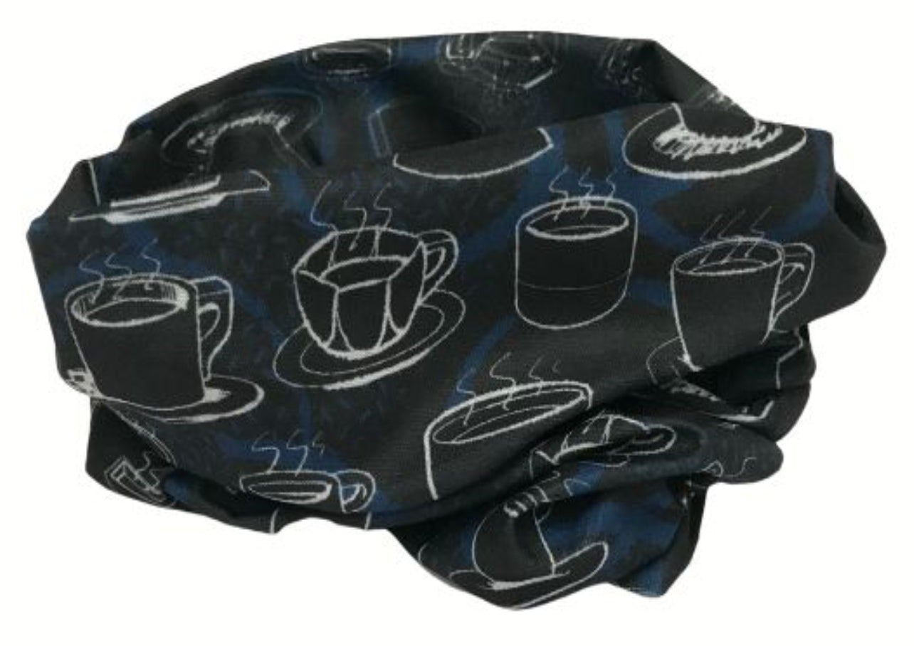 Blue Coffee Cup Snood