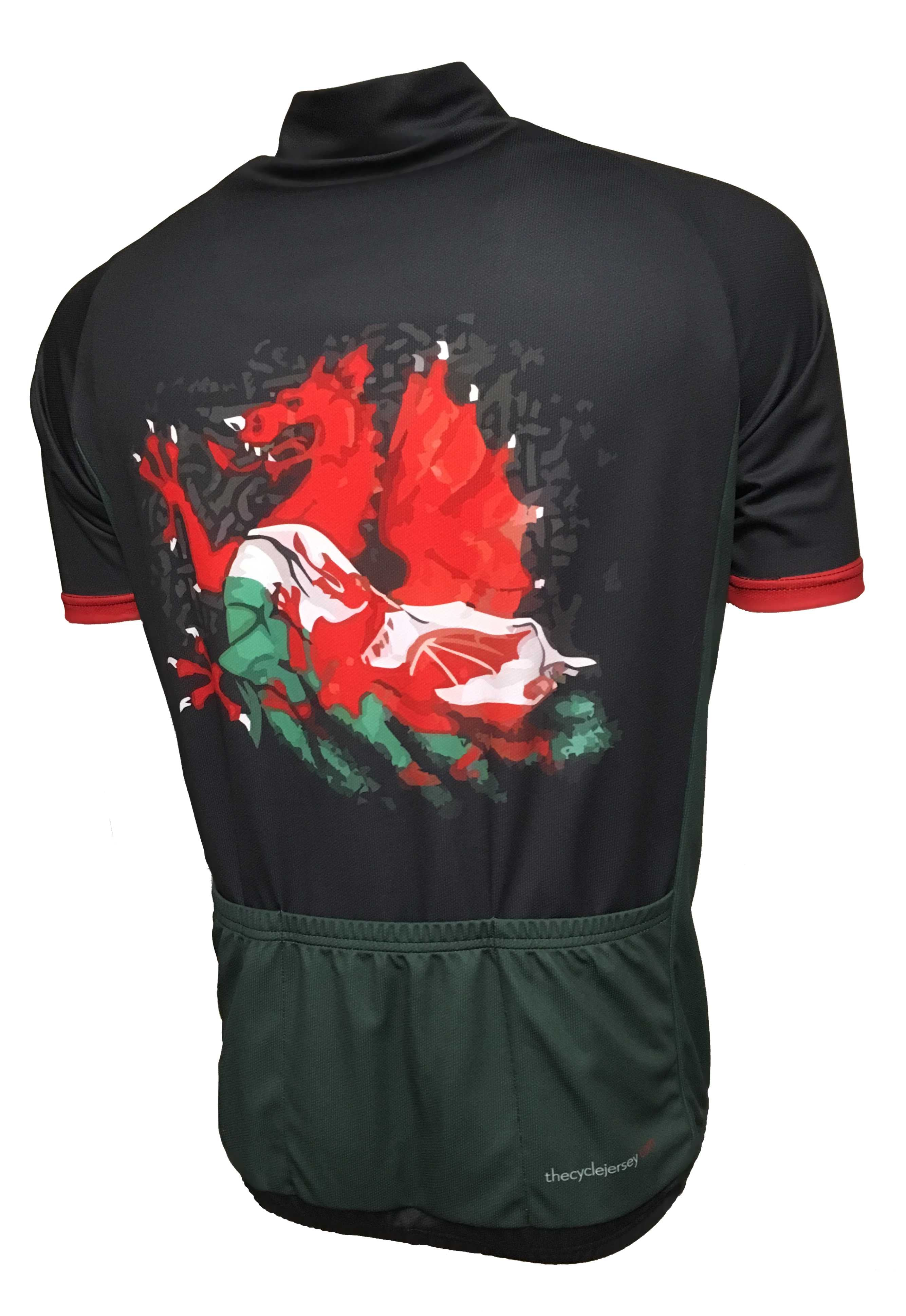 Wales Road Cycle Jersey Back