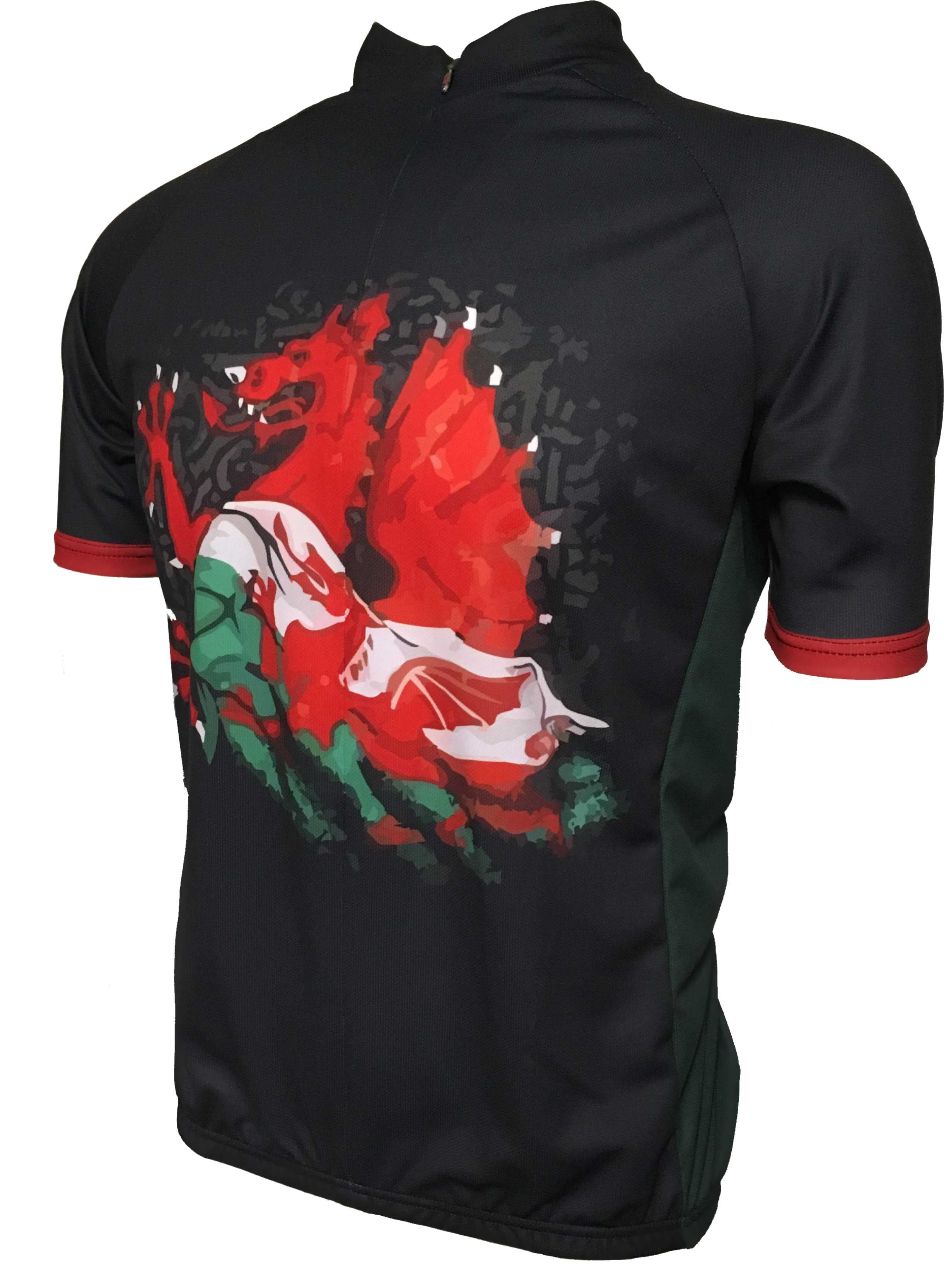 Wales Kids Cycle Jersey Front