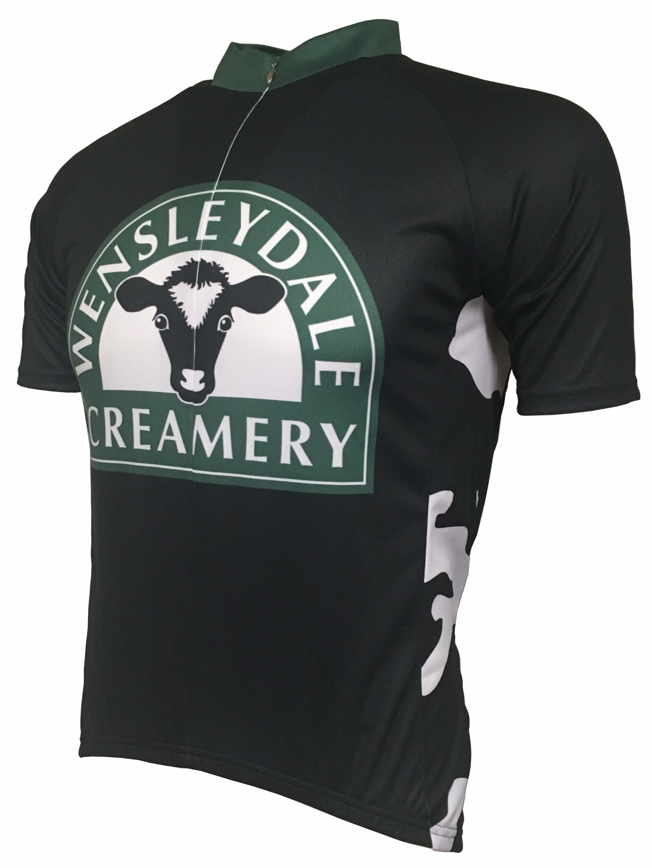 Wensleydale Creamery Cow Print Road Jersey Front