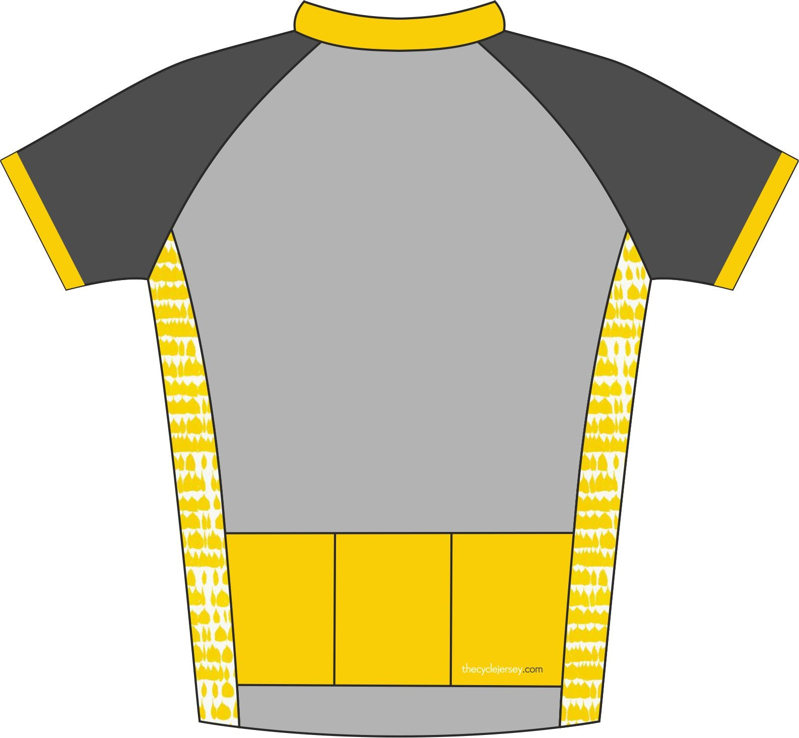 Hint of Yellow Enduro Jersey Back