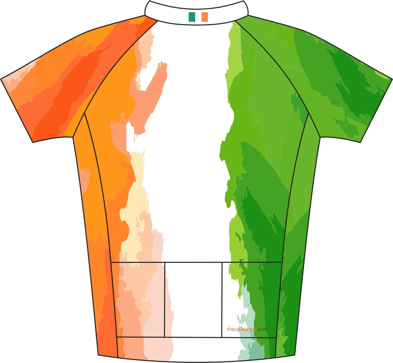 Ireland Enduro Cycle Jersey Back