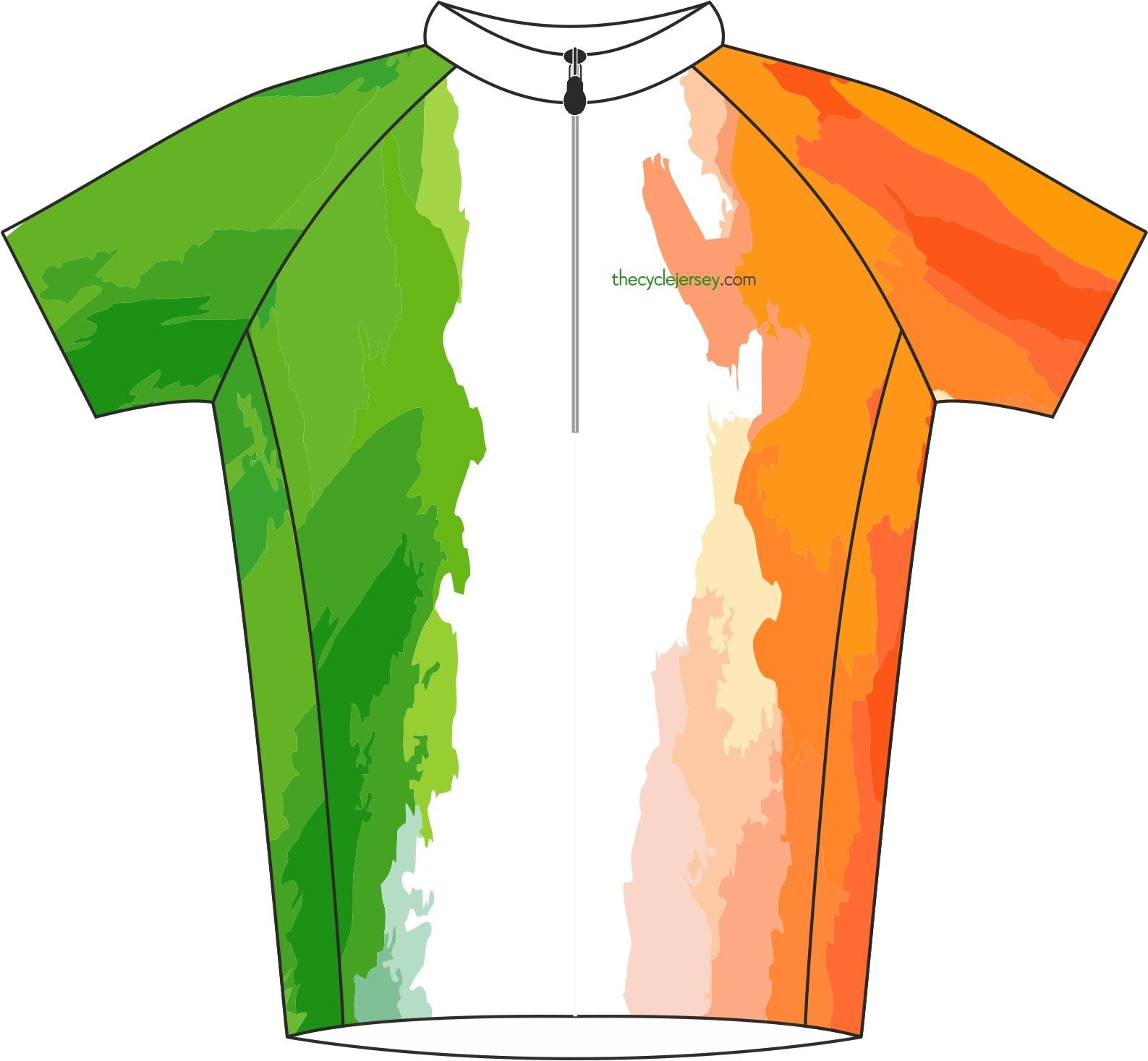 Ireland Enduro Cycle Jersey Front