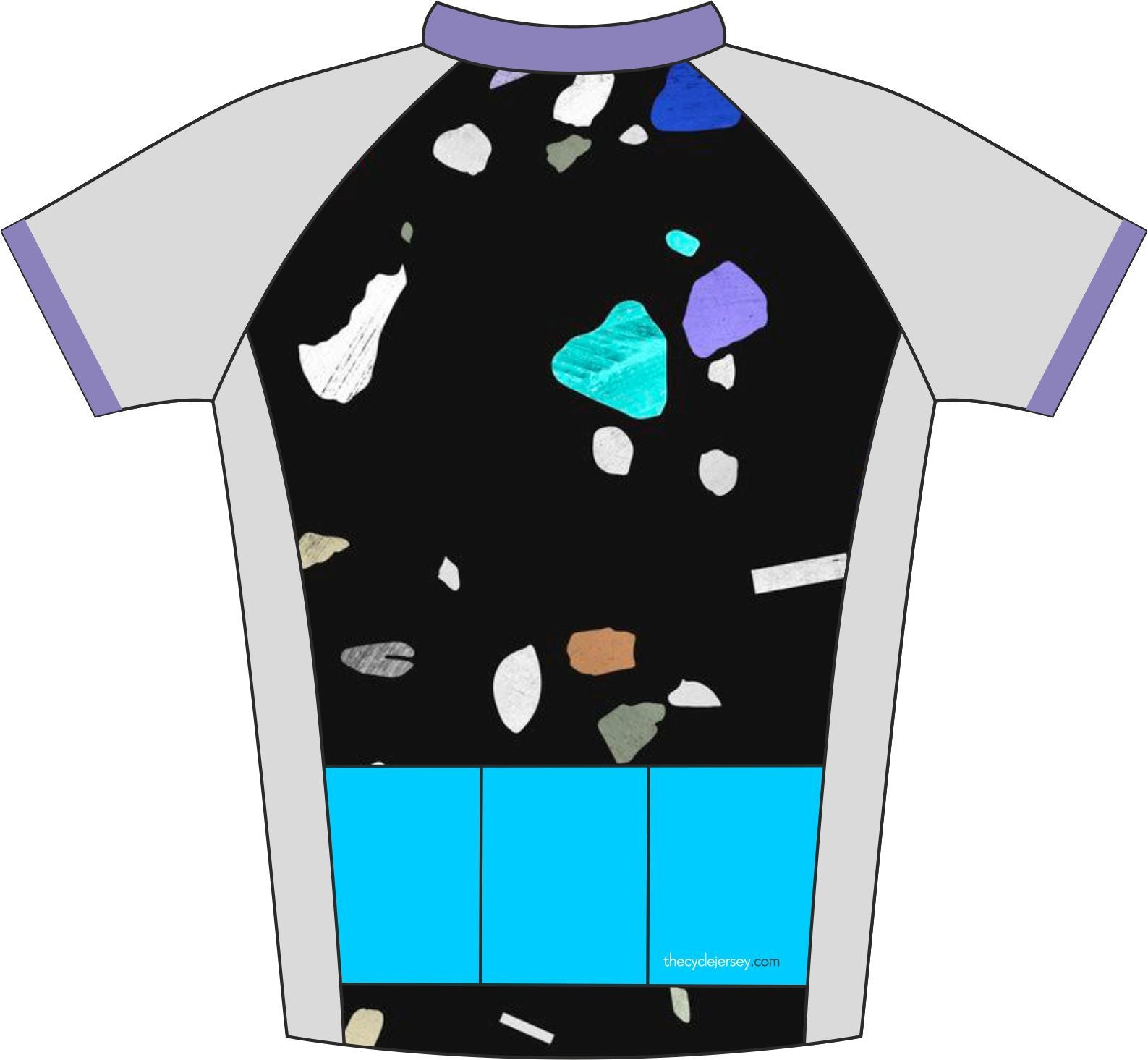 Kids Speckled Design Cycle Jersey Back