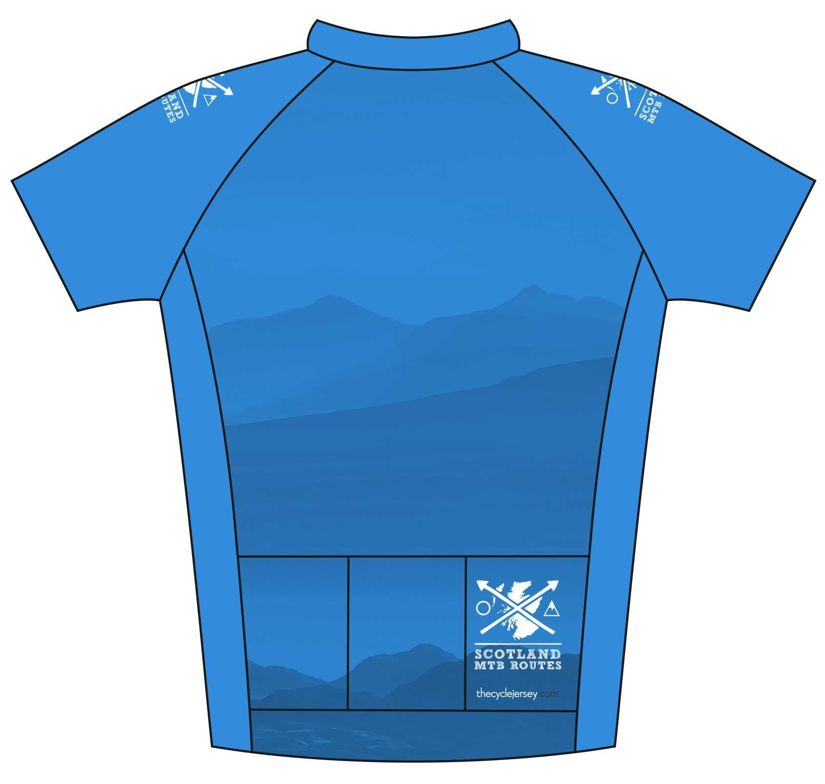 Scotland MTB Routes Road Cycle Jersey Back