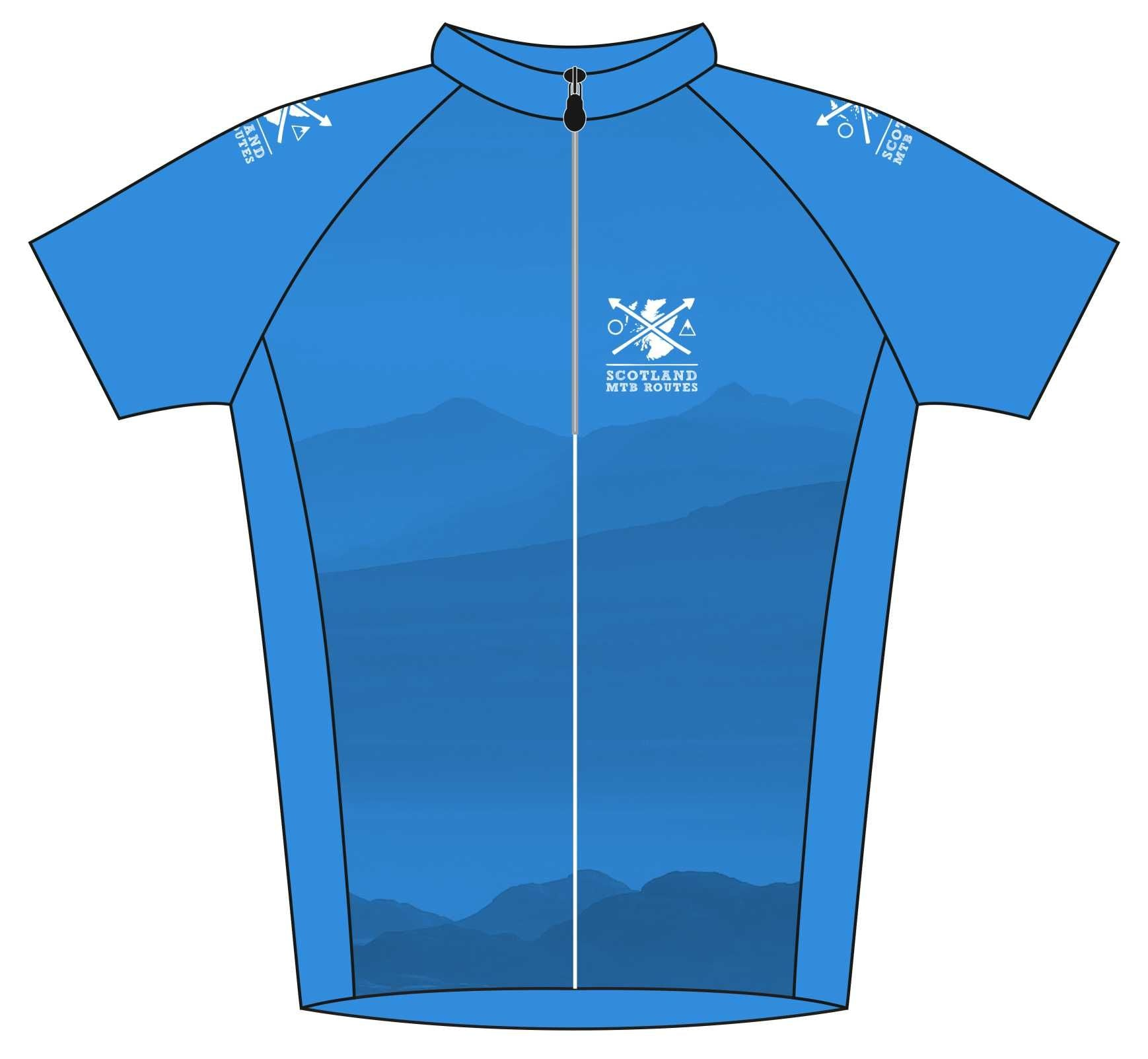 Scotland MTB Routes Road Cycle Jersey Front