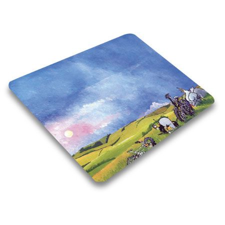 Mint Sauce Sunset Mouse Mat