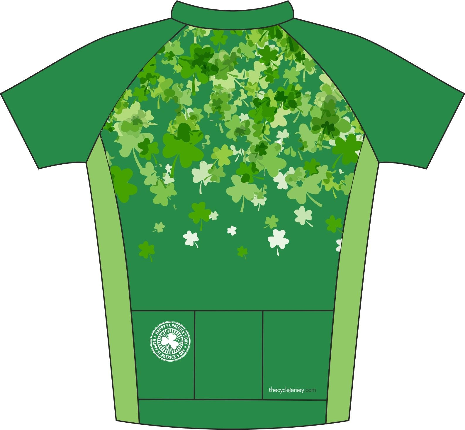 Shamrock Road Cycle Jersey Back