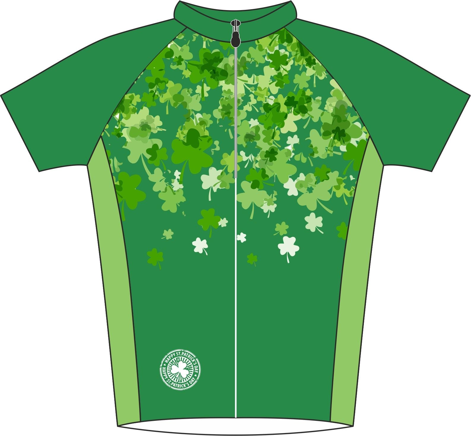 Shamrock Road Cycle Jersey Front