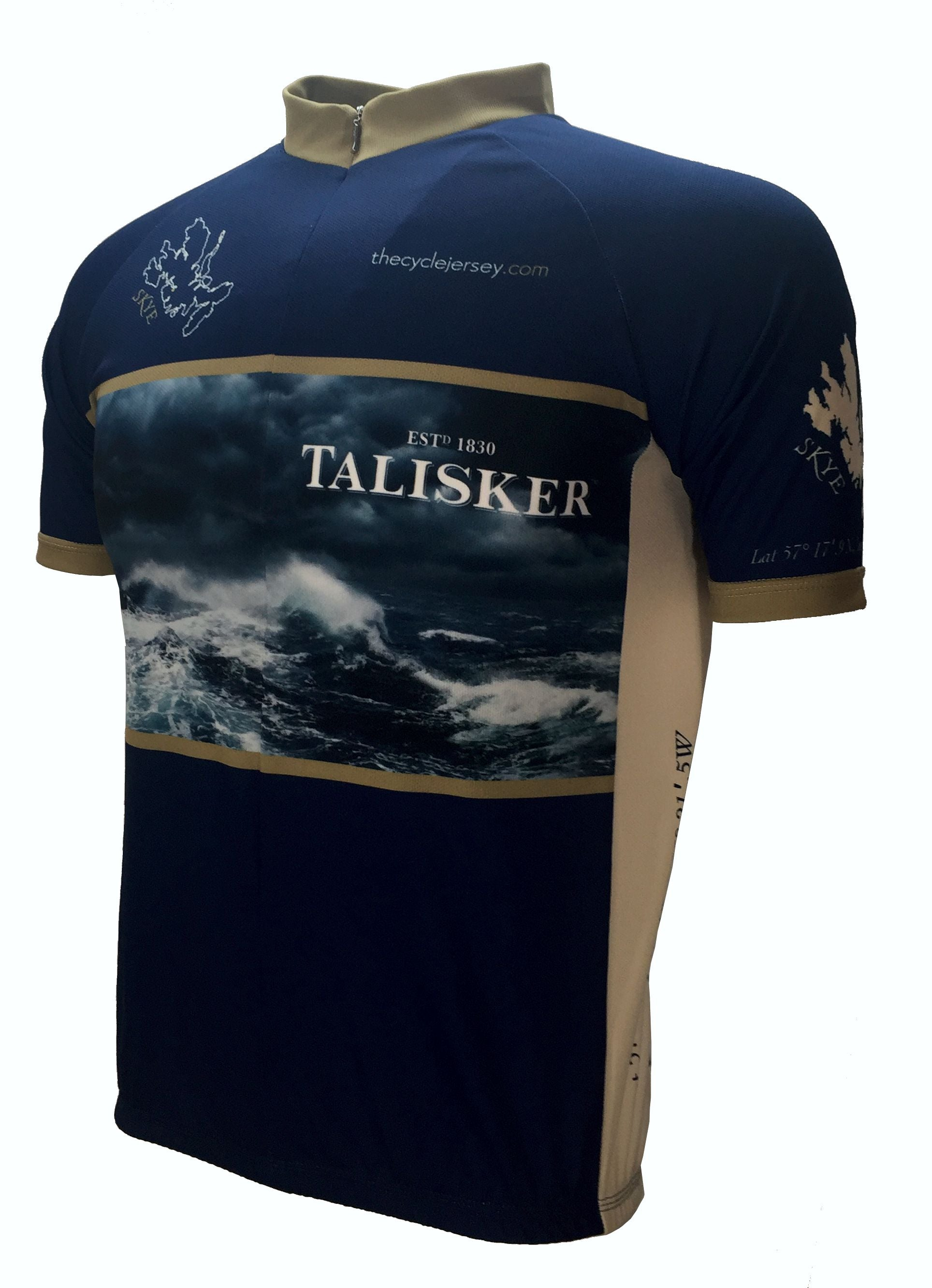 Talisker Winter Weight Cycling Jersey Front