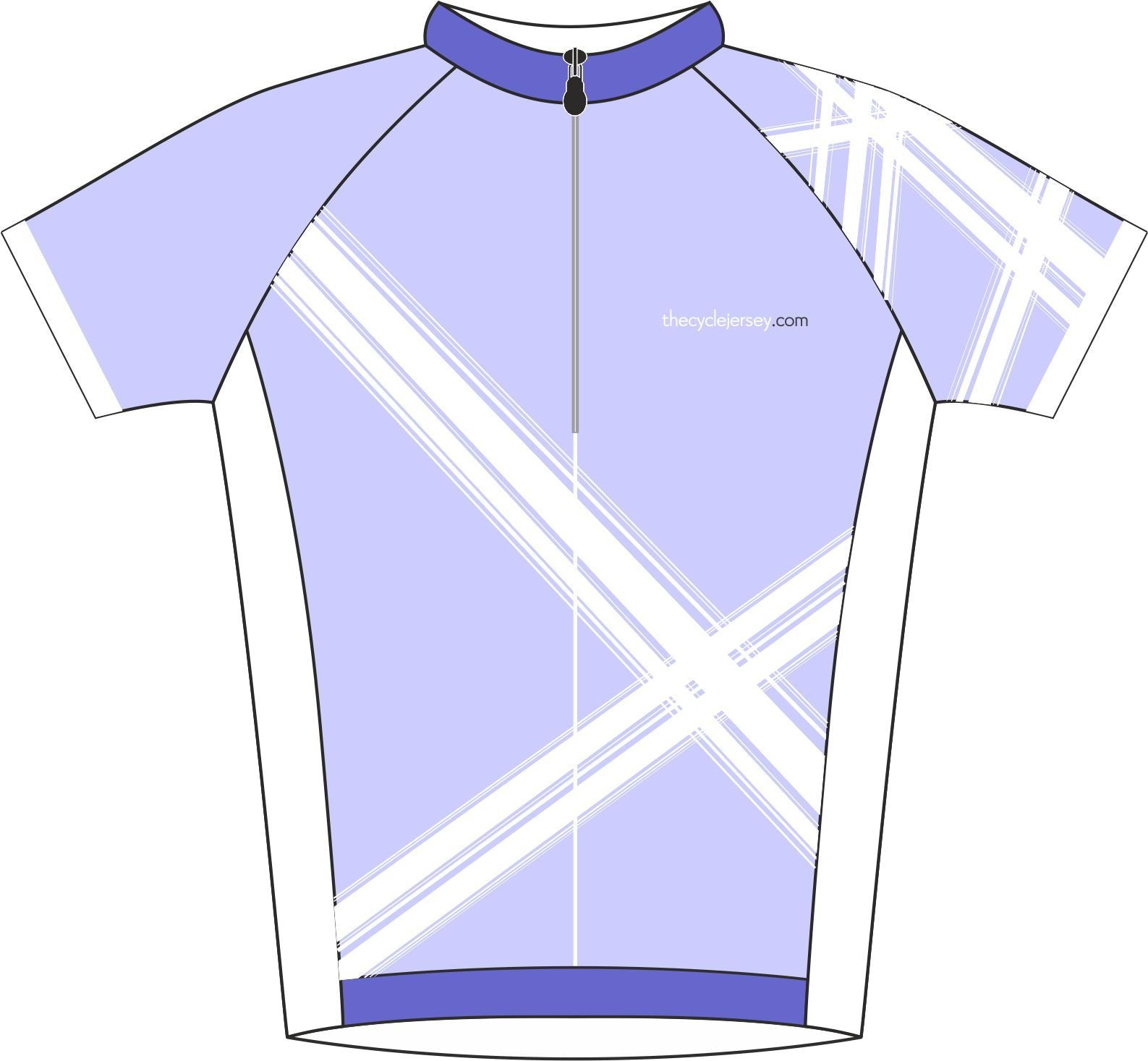 Criss Cross Lilac Road Cycle Jersey Front