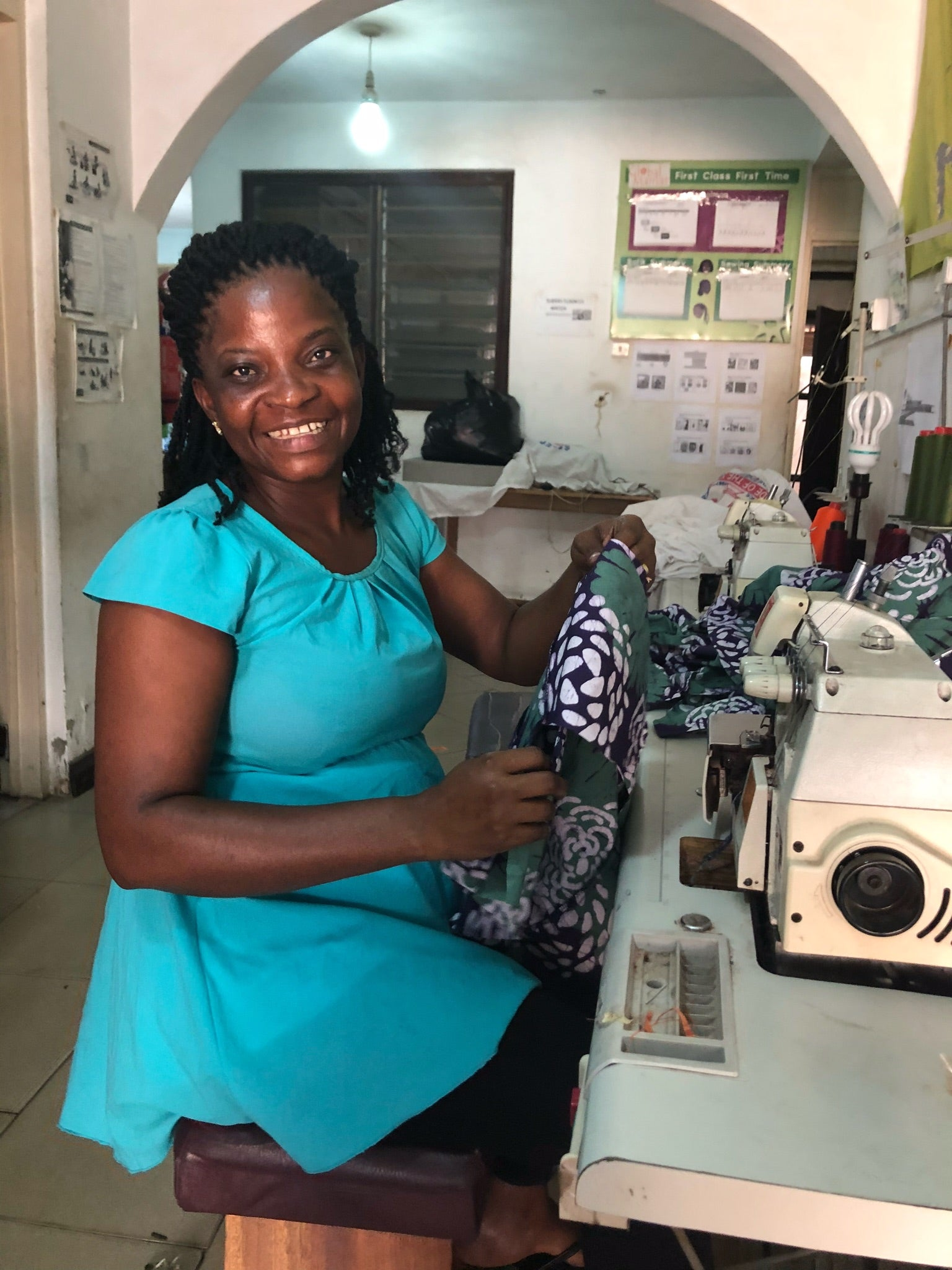 ghana dress making sewing fabric