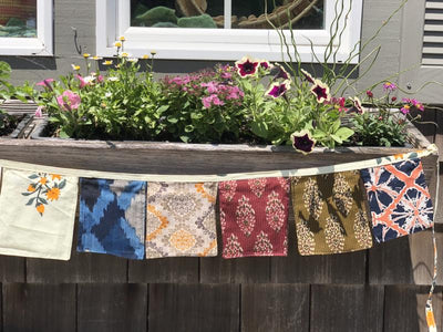 Garden Rectangle Bunting Garland