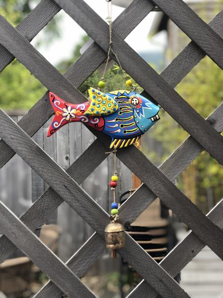 Painted Flowery Fish Chime
