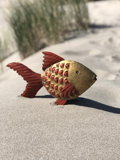 Recycled Metal Gold Fish