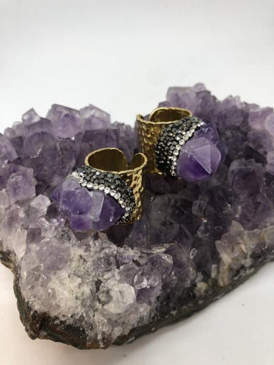 Amethyst Statement Ring