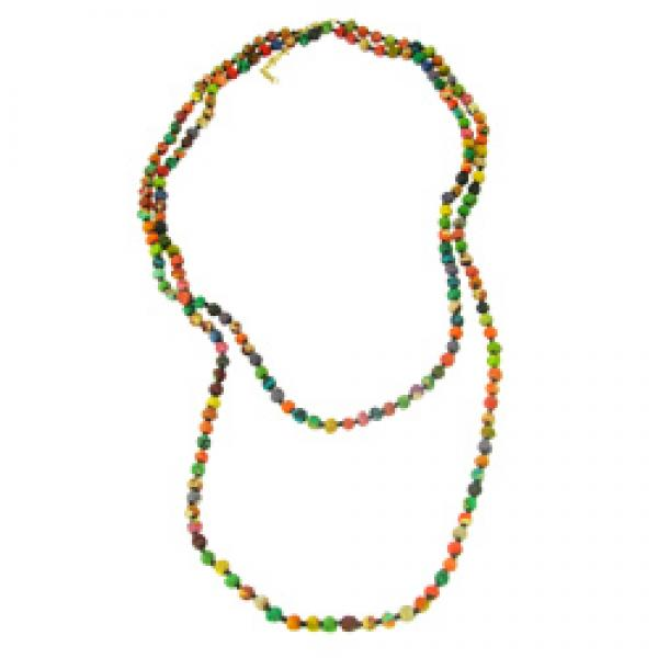 Long Kantha Bead Necklace
