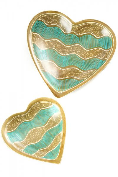 S Winding Waterways Heart Dish