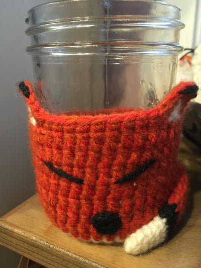 orange fox cup cozy fair trade