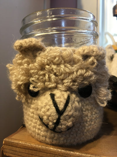 alpaca llama cup cozy fair trade