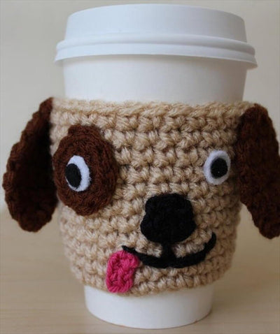 brown dog cup cozy fair trade