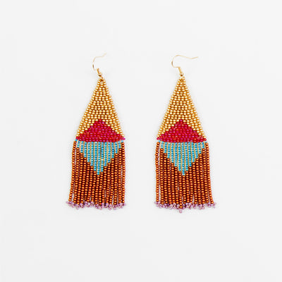 Graphic Fringe Earrings