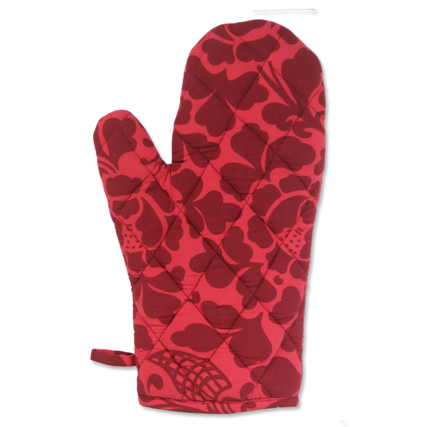red cloth oven mitt fair trade
