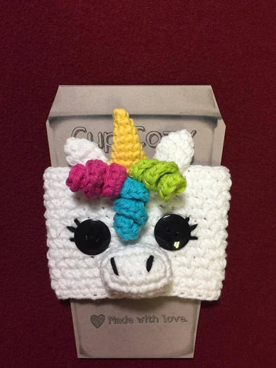 unicorn cup cozy fair trade